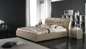 Newest Classic Leather Bed (6018) pictures & photos