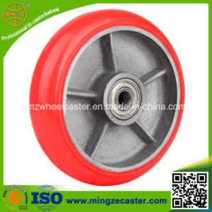 Good Rolling Ball Bearing PU Cast Iron Wheels (SGS, ISO) pictures & photos