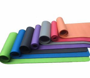 Extra Thick NBR Foam exercise Yoga Mat with Straps pictures & photos