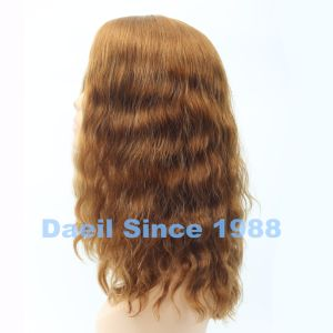 Jewish Curly Wig Blond Human Hair pictures & photos