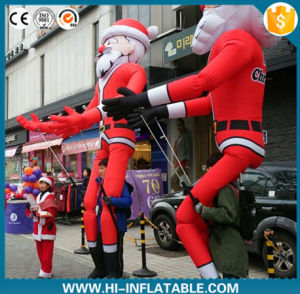 2016 Newwest Advertising Inflatable Moving Walking Christmas Santa Claus Characters with Long Legs