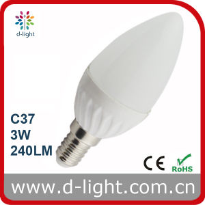 3W Ceramic E14 CE RoHS Approved Super Bright LED Candle Light