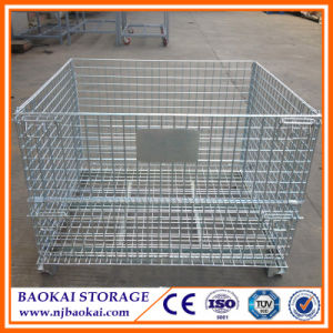Baokai Warehouse Foldable Steel Wire Mesh Container/Cage