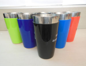 Stainless Steel Boston Shaker with Mixing Glass in PVC Coating