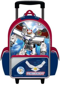 China Customize Kids School Bag with Wheel for Boys