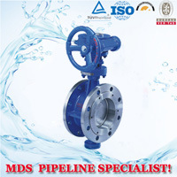Flanged Metal-Sealing Butterfly Valve pictures & photos
