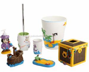 China Pirate Resin 7pcs Kids Bathroom Sets China Kids Bathroom Sets Kids Bathroom Accessories Sets