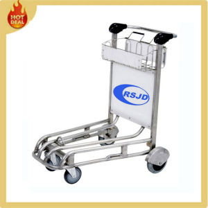 4 Wheels Stainless Steel Airport Passenger Luggage Trolley pictures & photos