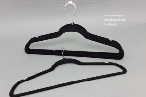 Cheap Flocked Hanger, Velvet Hanger for Clothes, Wholesale Plastic Hanger pictures & photos