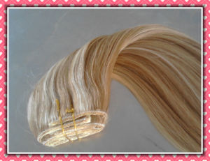 100% 8A Remy Hair Extension Clip-on Hair Extension Cohp16 pictures & photos