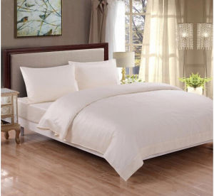 Honeymoon 100% Cotton 300 Thread Count Breathable Fade-Resistant 4PC Bedding Sheet Set pictures & photos