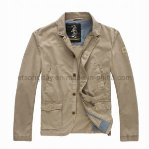 Khkai 100% Cotton Men′s Casual Outwear Jacket (RTG-01) pictures & photos