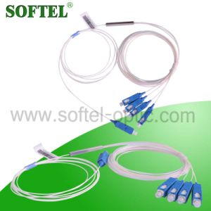 1*4 Sc/Upc Steel Tube Optic Fiber PLC Splitter pictures & photos