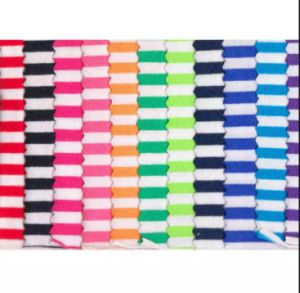 Wholesale Overseas 95 Cotton 5 Spandex Yarn Dyed Feeder Stripe Knitted Fabric