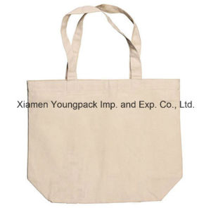 Custom Large Eco Reusable Natural White Organic Cotton Canvas Shopper Bag pictures & photos