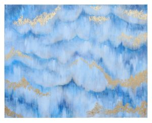 Hand Painted Blue Sky Oil Painting Abstract Wall Art on Canvas (LH-P17008) pictures & photos