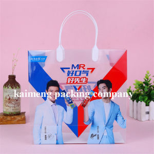 Real Factory Supply Foldable Clear PVC Plastic Gift Bags for Toothpasta Package