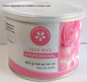 Pink Sensitive Creme Depilatory Wax Soft Strip Wax 400g Can pictures & photos