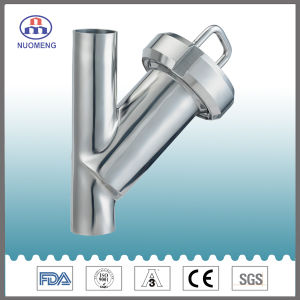 Sanitary Stainless Steel Welded Y Type Strainer (IDF-No. NM100107) pictures & photos