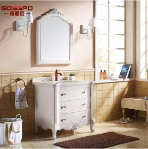 Modern Flat Panel Solid Wood Bathroom Vanity Cabinets (GSP9-004) pictures & photos