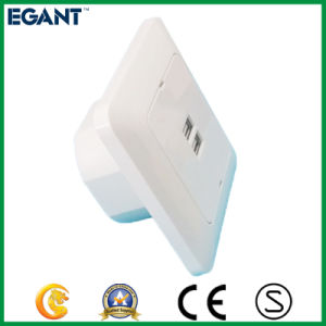 USB Wall Socket with 2 Ports 5V 2.4A Suit for Hotel Home Cafes etc