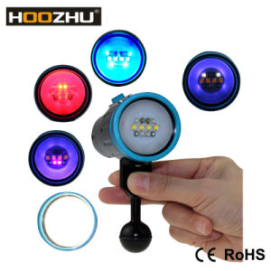 Hoozhu V13 Underwater Video Flashlight Five Colos Max 2600lumens