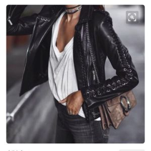 Lady′s True Leather Jacket with Zipper Fashion, 2017new Style, Special