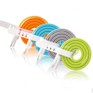 Colorful Flat Magnetic Charging USB Cable for Micro USB