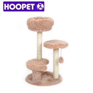 Wholesale and New Design Plush Fabric Cat Tree