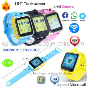 Large Memory 4GB Android System WiFi Smart Kids GPS Watch (D18S) pictures & photos