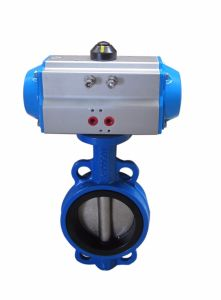 Pneumatic Butterfly Valve with Actuators pictures & photos
