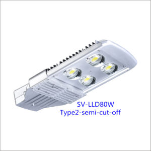 80W LED Street Light with Bridgelux Chip and Inventronics Driver