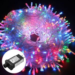 Excelvan Safe Low Voltage 8 Modes 500 Leds 100m 328ft Dimmable Fairy String Lights With