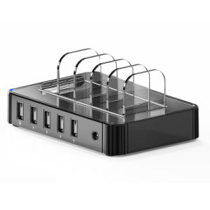Portable Multiple 5 Port USB Charging Dock Station Charger