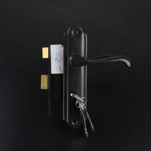 8921 Aluminum Handle and Iron Plated Door Handle Lock