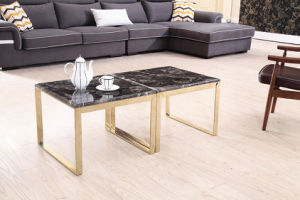 Brushed Stainless Steel Frame+Marble Board Coffee Table pictures & photos