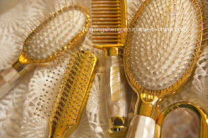 High Quality Hair Brush Set Gift Brush with K Gold Effect and Natural Shell pictures & photos