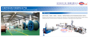 Power Cable Jacket Extrusion Line pictures & photos