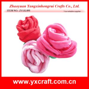 Valentine Decoration Free Sample (ZY13L895) Fabric Valentine Rose Flower Ornament pictures & photos
