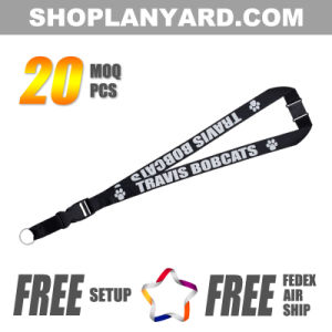 1 Inch Nylon Neck Lanyard with Breakaway Hook