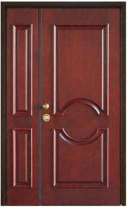 China Steel Security Double Door With Unequal Leaves China Unequal Double Door Steel Security Door