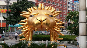 Advertising Inflatable Gold Lion Tunnel for Decoration
