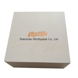 Folding Cosmetic Box with Rigid Board and Golden Foiled Logo