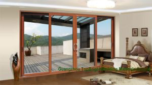 New Design Aluminum Profile Sliding Door with Fly Screen pictures & photos