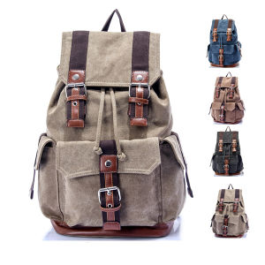 2015 Wholesale New Custom Make Waxed Canvas Backpack Sh-15113016 pictures & photos