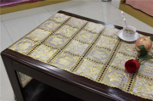 50cm*20m PVC Gold Lace Table Placemat for Home/Party/Wedding Use (JFBD-019) pictures & photos
