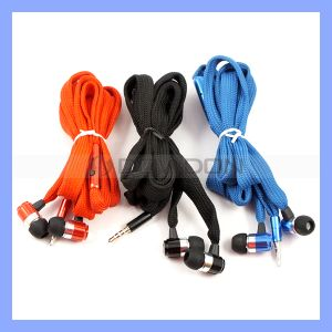 Waterproof Shoelace Stereo Earphone with Mic for Media Player MP3 MP4 Game Consoles Computer and Mobile Phones pictures & photos