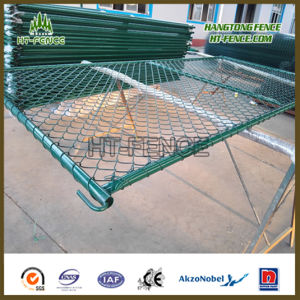 Park Green Powder Coated Chain Link Construcation Temporary Fence pictures & photos