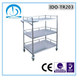 Ce ISO Approved Hospital Stainless Steel Trolley