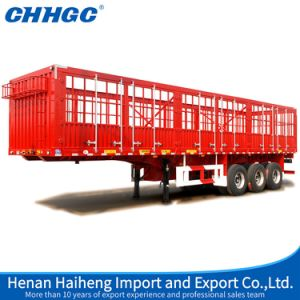 Hot Sales 3 Axles 40ton Box Stake Truck Semi Trailer